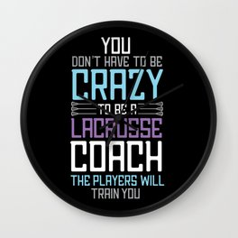 lacrosse player funny sport sports coach player Wall Clock