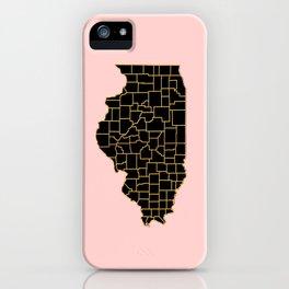 Illinois map iPhone Case