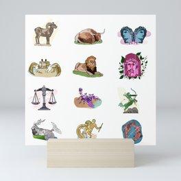 Zodiacs Mini Art Print