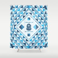 diver Shower Curtains featuring Diver by parallelish