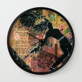 """Gloria J Zucaro's """"Multi One"""" Wall Clock"""