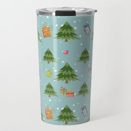 Christmas Elements Christmas Trees Design Travel Mug