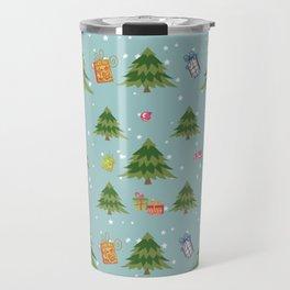 Christmas Elements Christmas Trees Design Travel Mug