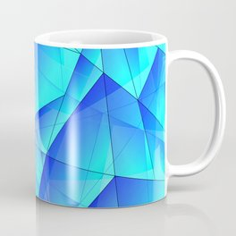Abstract celestial pattern of blue and luminous plates of triangles and irregularly shaped lines. Coffee Mug