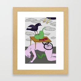 Weird Lunch  Print Framed Art Print