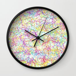 Colorful crackles Wall Clock
