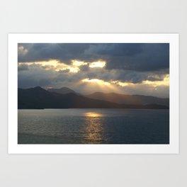 Sunset over Haiti Art Print