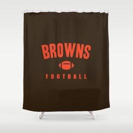 Browns Football Shower Curtain