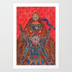 Kaali-The Fierce Form Art Print