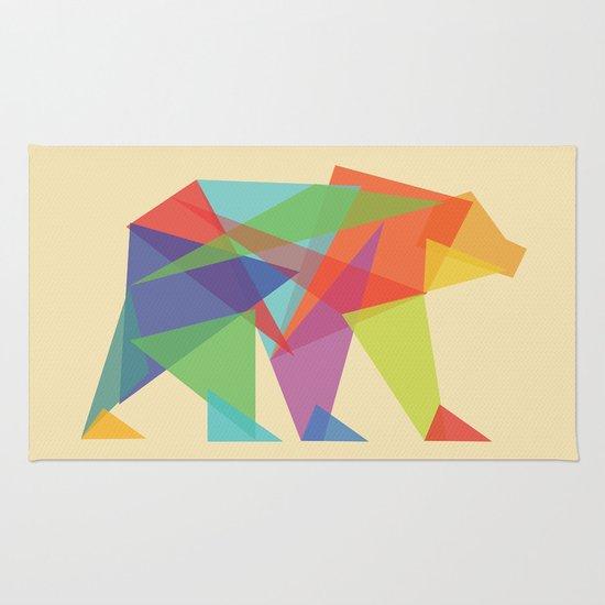 Fractal Geometric bear Rug