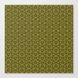 Tessellation - Culture Clash - Monotone Olive Canvas Print