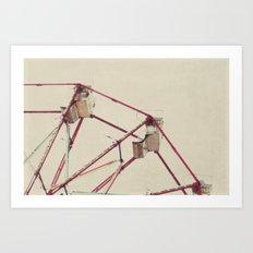 ferris wheel fun Art Print
