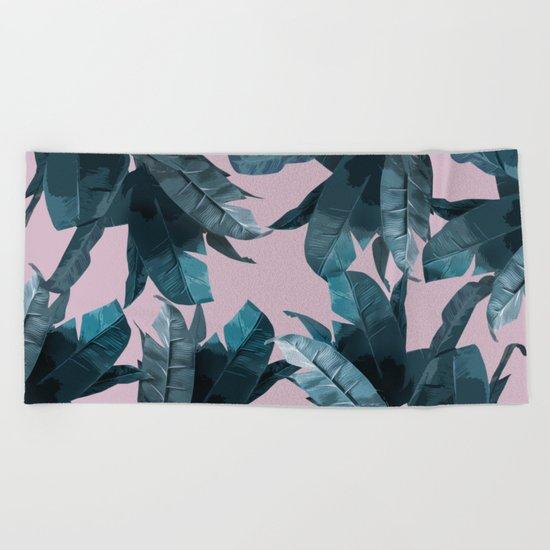 Tropical Palm Print #2 Beach Towel