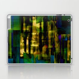 Passing Crowd - A vibrant and enigmatic abstract Laptop & iPad Skin