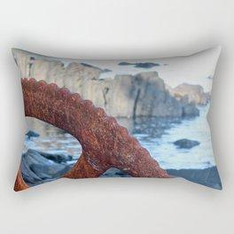 Rusty Wheel Photography Print Rectangular Pillow