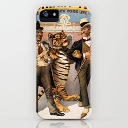 Vintage poster - Tammany tiger iPhone Case