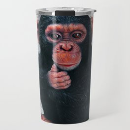 Chimpanzee Art Travel Mug