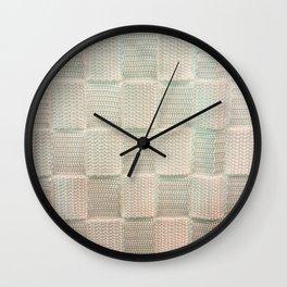 Interlace White Satin Wall Clock