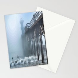 Foggy Morning at the Beach Stationery Cards