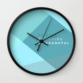 Teal Geometric Artwork Wall Clock