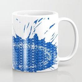 Sparkley Blue Flower Coffee Mug