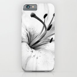High Key Lilly Black & White Nature / Floral / Botanical Photograph iPhone Case