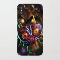 majoras mask iPhone & iPod Cases featuring Majoras Mask by Max Grecke