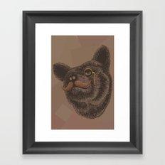 Classy Bear Framed Art Print