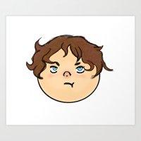 Grumpy Hobbit Art Print
