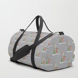 Rabbit celebrating Christmas Duffle Bag