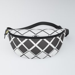 Rombs Black and white pattern Fanny Pack