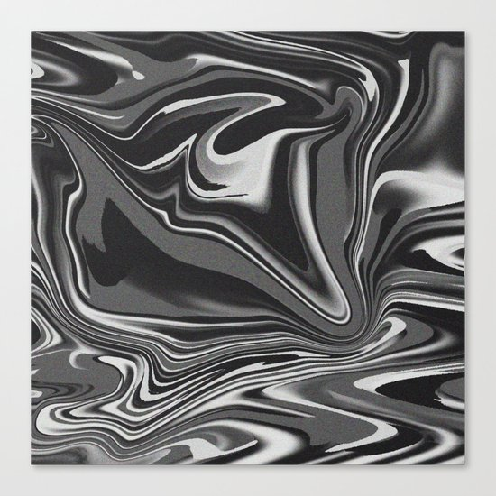 noisy black and white glitch Canvas Print