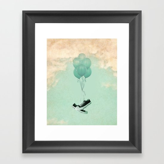Up Cycleing Framed Art Print