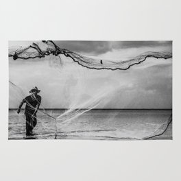 Casting the net Rug