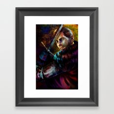 Knight Captain turned Advisor Framed Art Print