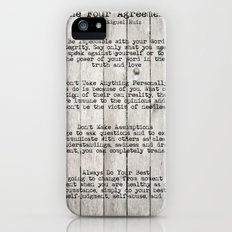 The Four Agreements iPhone (5, 5s) Slim Case