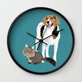 Piper and Jeb Wall Clock