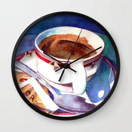 Cafe con Leche Wall Clock