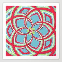 Spiral Rose Pattern C 3/4 Art Print