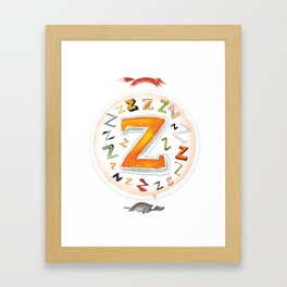 The Quick and the Zed Framed Art Print