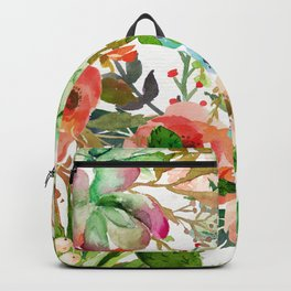 Cactus Floral Collage Backpack