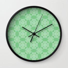 Sage Green Spring Lace Wall Clock