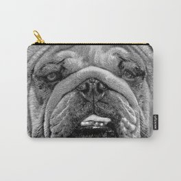 Bulldog Black and White Carry-All Pouch