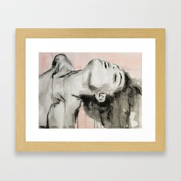 She appeared insincere and cruel Framed Art Print