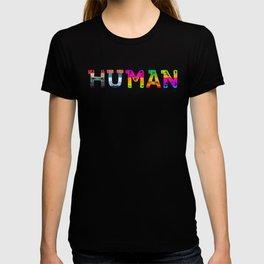 HUMAN LGBTQ Pride Transgender Rainbow T-shirt