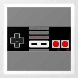 Retro Game Console Art Print