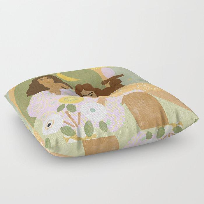 Violet Lamp Floor Pillow