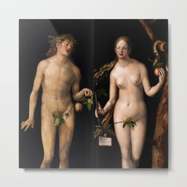"Albrecht Dürer ""Adam and Eve"" Metal Print"