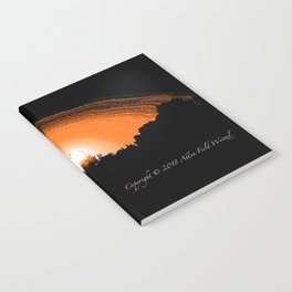 """""""God's Sunset"""" with poem: Serenity Notebook"""