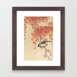 Ohara Koson - Japanese Bird Blockprint Framed Art Print